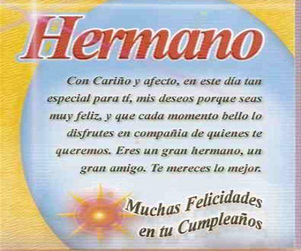 Imagenes de Cumpleaños para Facebook: Feliz cumpleaños hermano