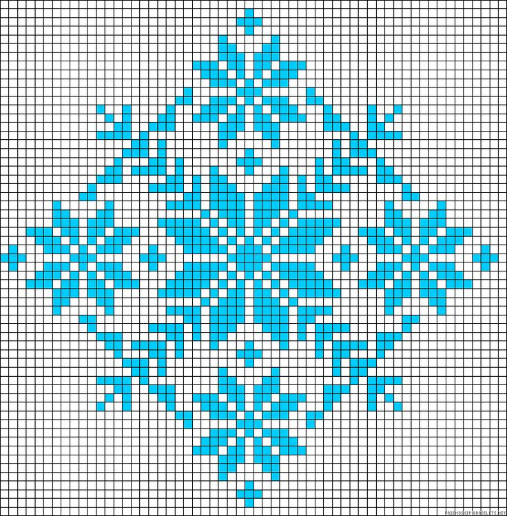 Winter design perler bead pattern