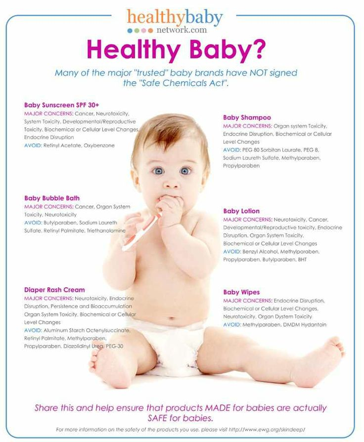 Best way to find out is to look at the back and be sure there are none of the ingredients listed on this picture.  Ava Anderson Non Toxic has a baby line that does not contain any of these harmful chemicals!  http://www.avaandersonnontoxic.com/mirandapalomo
