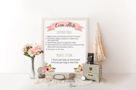 Printable wedding game signs wedding lawn games by OccasionHouse