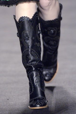 Anna Sui Cowgirl boots