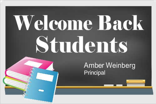 Welcome Back Students - School Banner