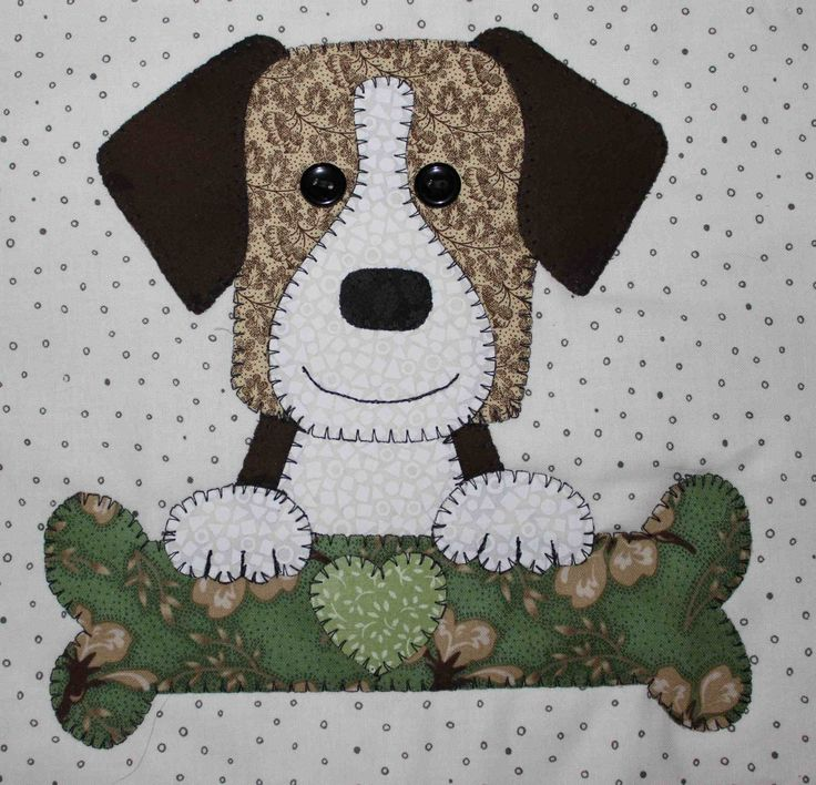 Foxhound applique wall hanging.  Dog quilt.