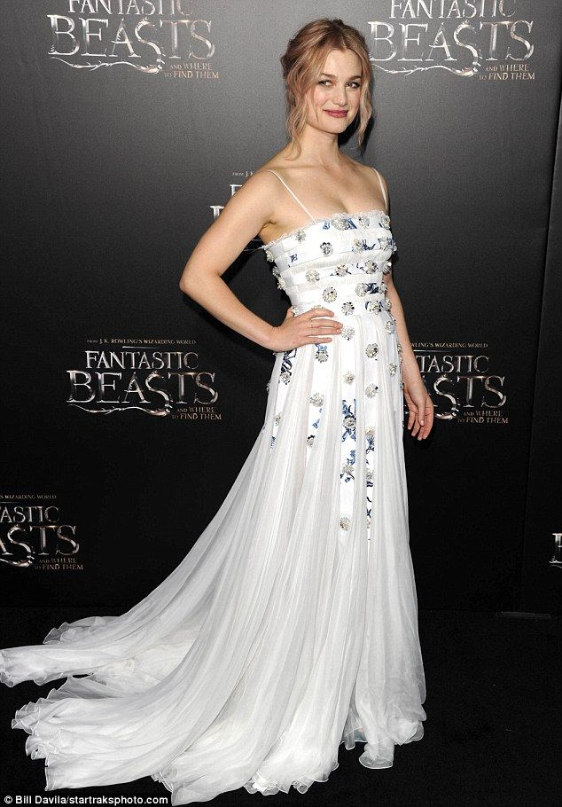 Allison Sudol in Miu Miu attends the premiere of 'Fantastic Beasts and Where to Find Them' on November 10 2016 in New York