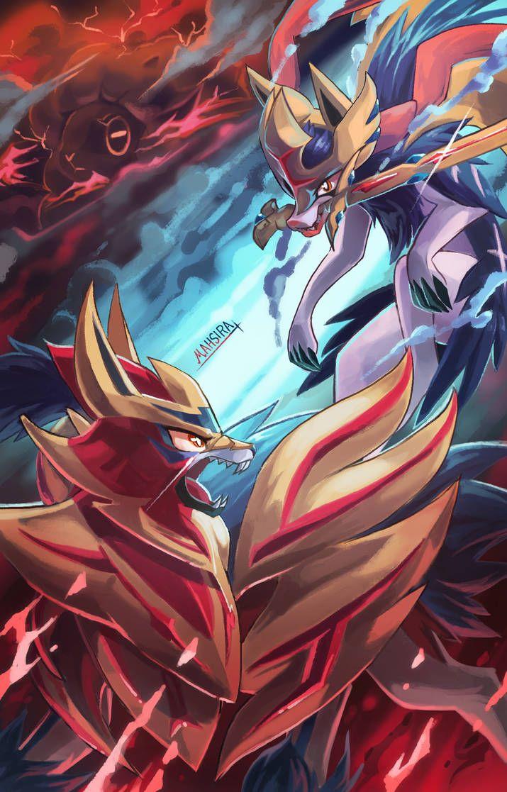 Sword Shield And Wooloo By Mahsira Cool Pokemon Wallpapers Pokemon Pokemon Backgrounds