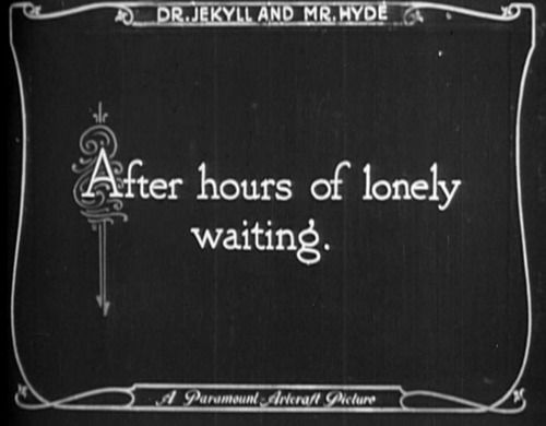 Silent film words