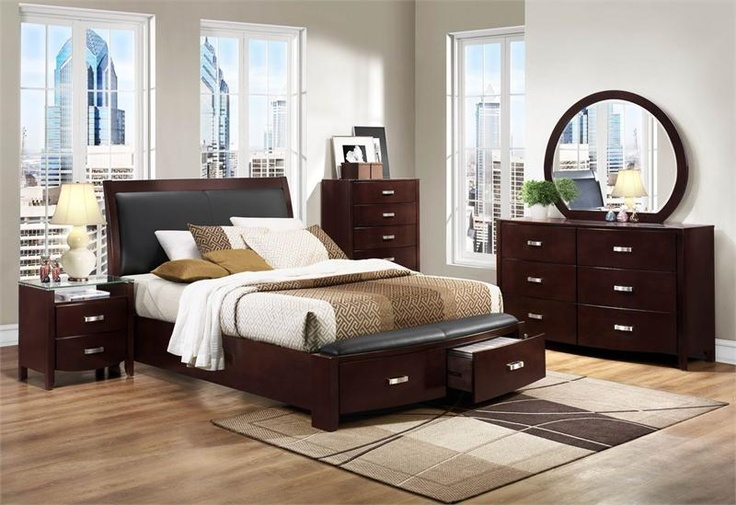 Minimalist Lyric Dark Espresso Leather Low Profile Bed with Drawers Awesome - Lovely bedroom sets with mattress Top Search