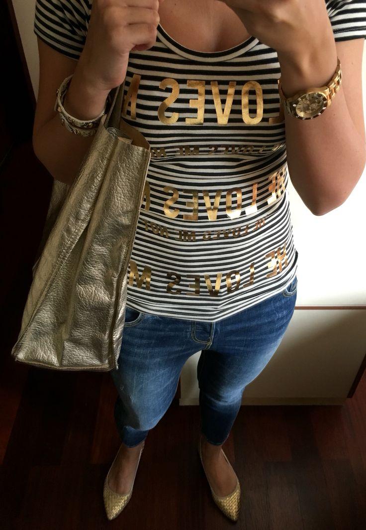 I'm golden, baby #guess #zara #hm #affordablefashion
