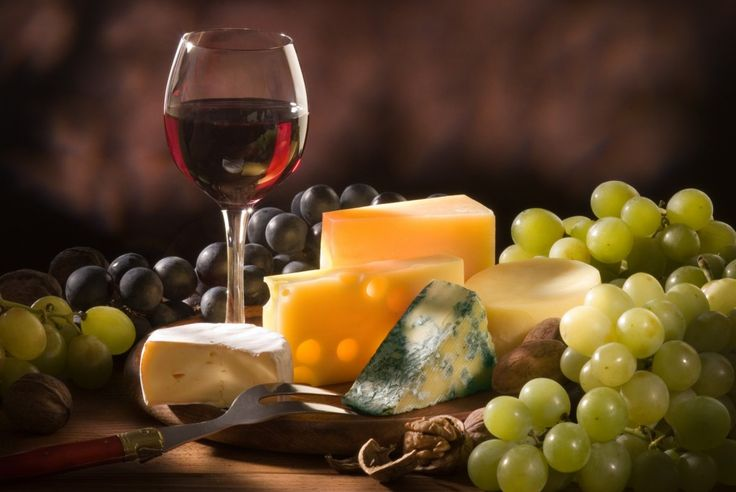 Red wine & French Cheese... Two of my favourites