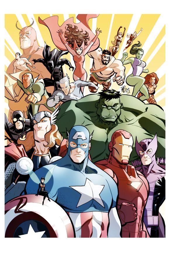 Avengers by Marcio Takara