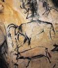 Uro e renne; ca 20000-17500 a.C.; dipinto rupestre; Grotta Chauvet, Francia