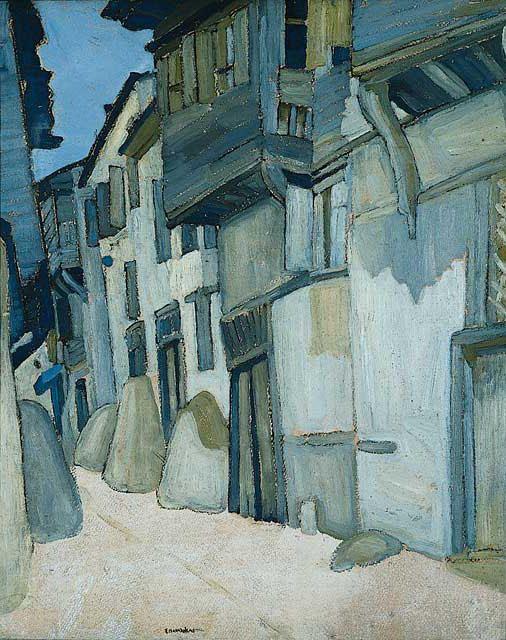 Houses by Spyros Papaloukas (1892-1957, Greece)