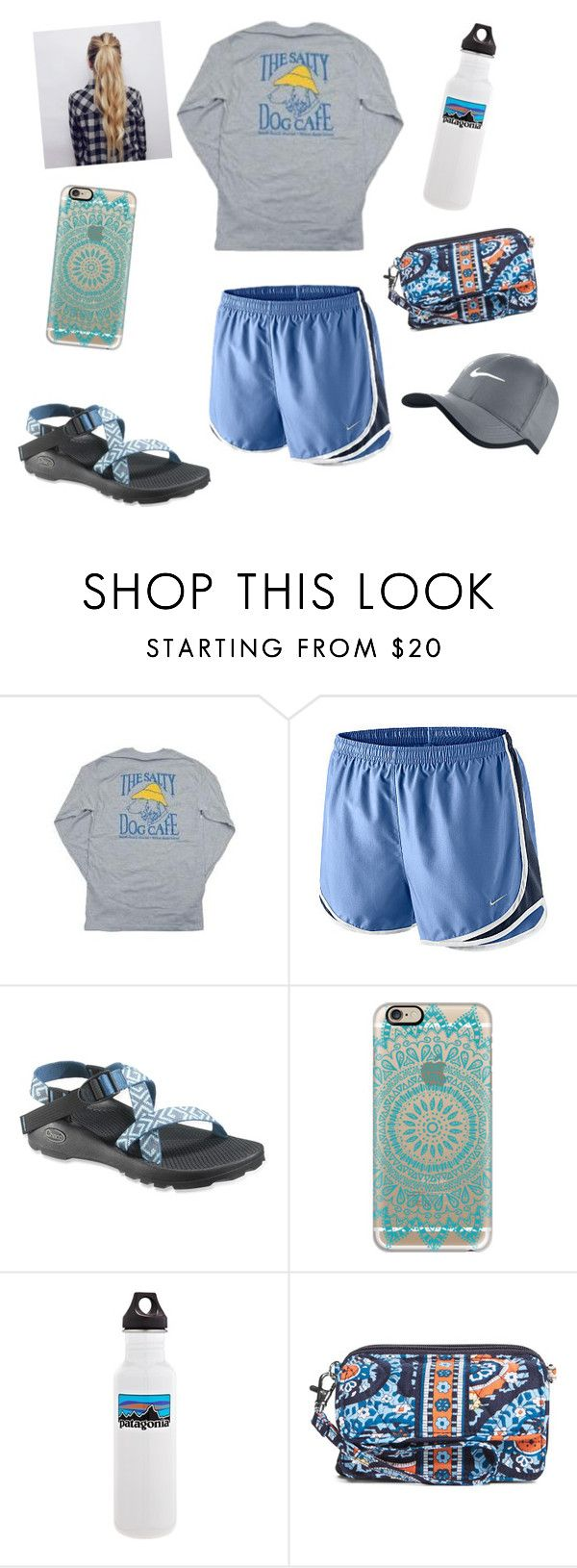 """I want a salty dog cafe shirt!!!"" by raquate1232 ❤ liked on Polyvore featuring Hanes, NIKE, Chaco, Casetify, Patagonia and Vera Bradley"
