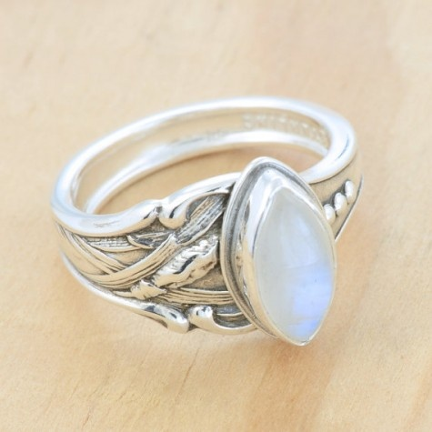 Great Moonstone ring by MetalSmitten Am I selling myself short if I ask for this to be my wedding ring acpanied by a new deck and bathroom
