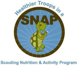 Healthier Troops in a SNAP! Scouting Nutrition & Activity Program:  A health promotion program targeting girl scouts, their parents, and troop leaders. Developed by  Dr. Richard Rosenkranz, from Kansas State University's Department of Human Nutrition and the Youth Health Behavior Research Laboratory.  All program materials included.  NO PATCH.  Can be used to support various earned badges for all levels of GS.