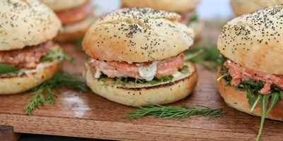 Try this Salmon Burgers recipe by Chef Fiona.This recipe is from the show The Great Australian Bake Off.