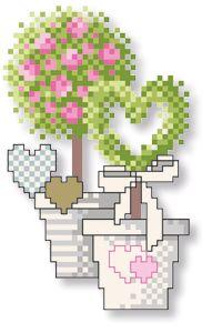 Stickvorlage Lindner's Kreuzstiche - Hochzeit