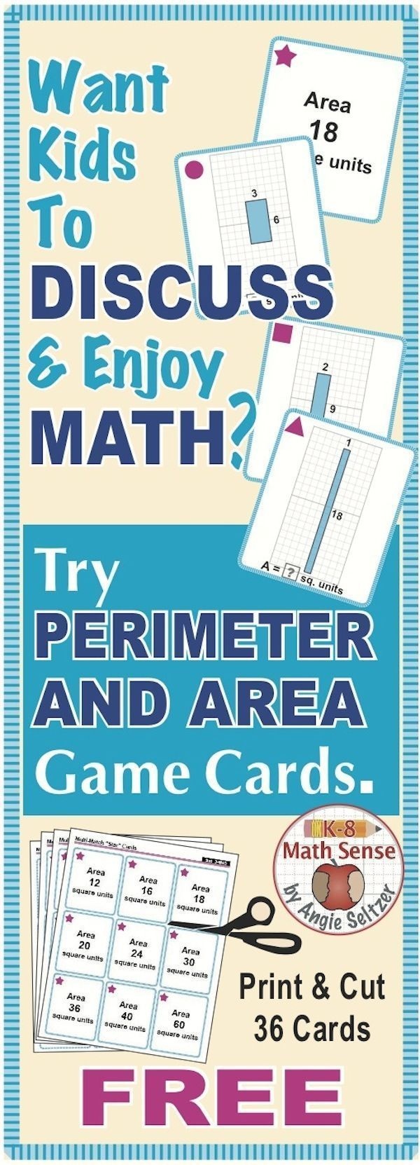 107 best 5th math perimeter area volume images on Pinterest | School ...