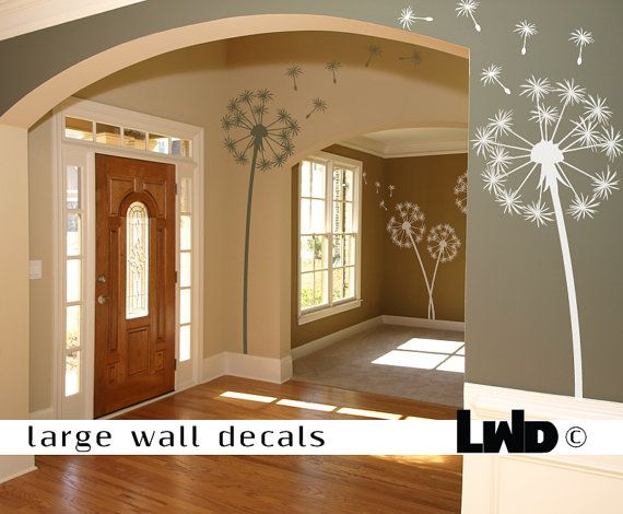 Dandelion Wall Decal - Flower Home Decor - Flower Wall