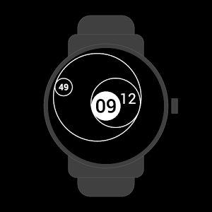 #tangent #geometry #analog #digital #dots #circles #watchface #smartwatch #wearable #androidwear #lggwatchr #moto360 #design #apparel