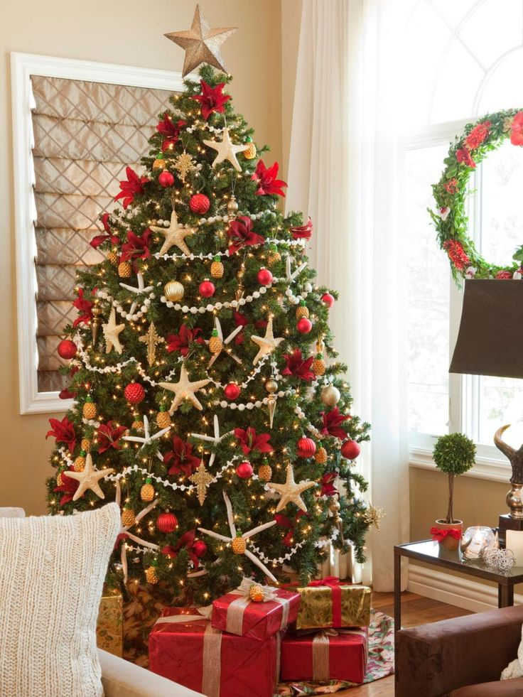 Can't get away this Christmas? Transform your home into a luxurious vacation spot with ornaments and decorations sourced from or inspired by your favorite locale. For actor Wayne Brady's Hawaiian-themed holiday home, designer Stacey Vuduris trimmed the tree with starfish, pineapple and tropical flower ornaments, and pretty puka shell garland.