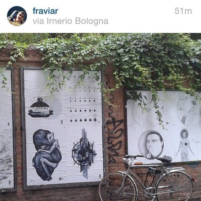 Grazie Fraviar // e il mio poster per il CHEAP è ancora lì! (In basso a destra) via Irnerio, Bologna #cheapfestival #bologna #bolognastreetart #poster #manifesto #posterart #uomo #leone #cuore #coraggio #graphic #streetart #illustration #design #bolognawelcome