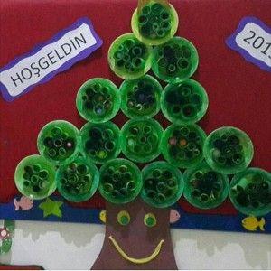 paper plate christmas tree craft