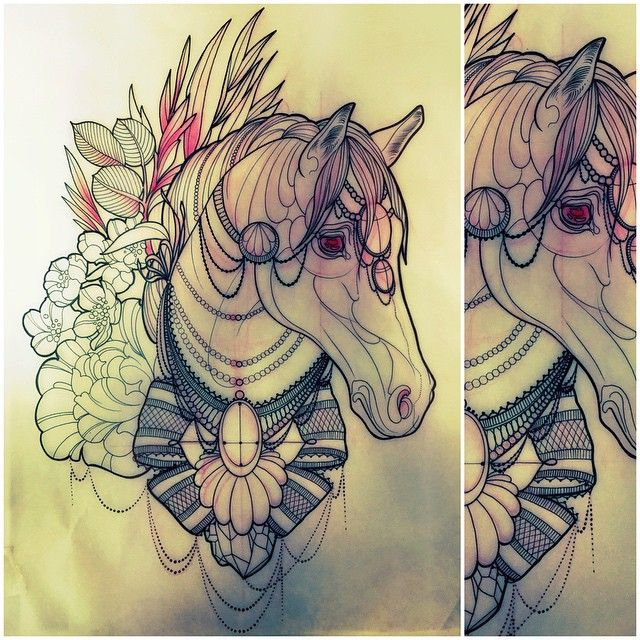#horsetattoo #animaltattoo #wip