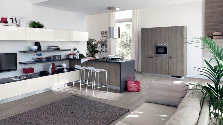 Sax moderní kuchyňská linka a obývací pokoj / multifunctional living space (kitchen with living room)