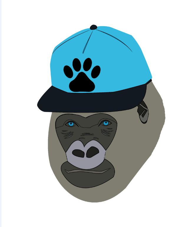 Happy gorillas #animaldesign #kidsdesign #vectorial