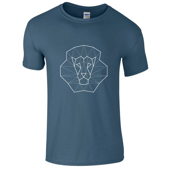 Minimalistic t-shirt geometric lion hipster shirt by ARTsyClothing