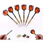 B 6 pcs Steel Needle Tip Dart Darts With Nice Flight Flights Raging fire - http://awesomeauctions.net/bar-games/b-6-pcs-steel-needle-tip-dart-darts-with-nice-flight-flights-raging-fire/