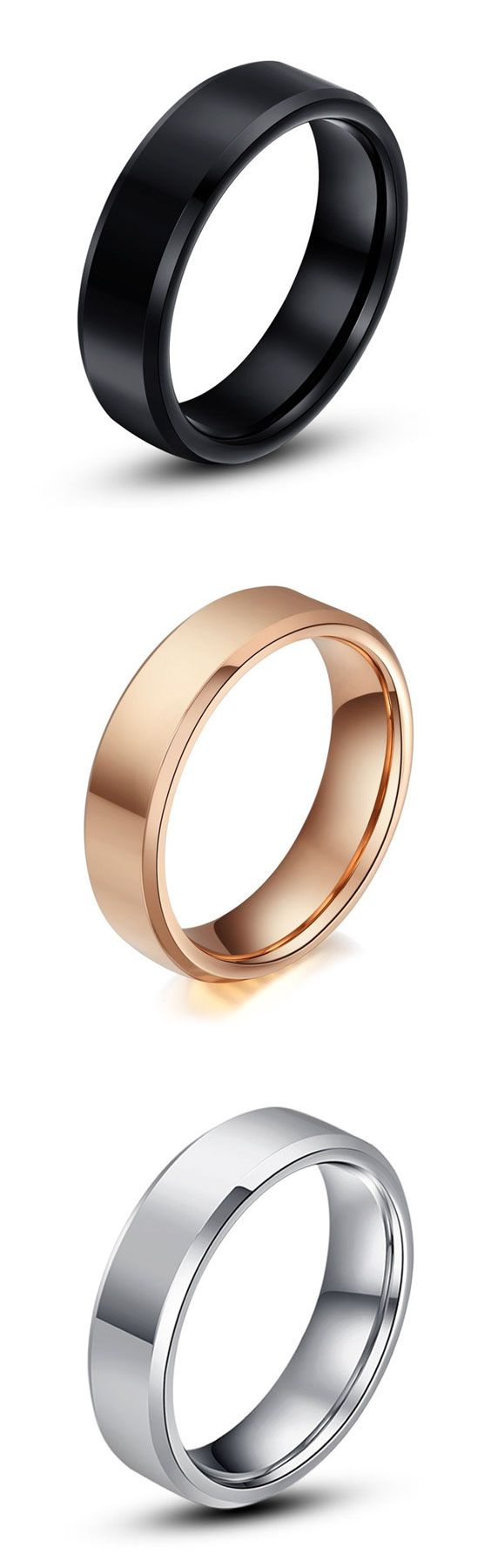 Personalized Tungsten Wedding Band For Women