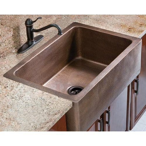 designs of distinction nouveau crown molding insert copper farmhouse sinkscopper kitchen - Copper Kitchen Sinks Reviews