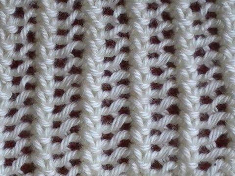 Cómo Tejer Encaje Tejido-Lace Stitch 2 Agujas (18), My Crafts and DIY Projects                                                                                                                                                                                 Más