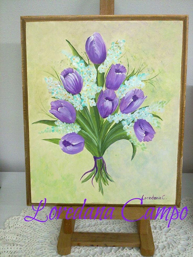 Tulipani in acrilico