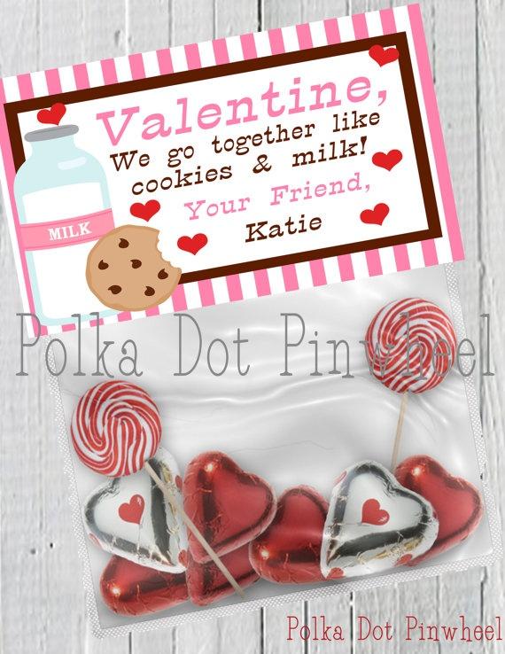 Cookies Amp Milk Valentines Goodie Bag By PolkaDotPinwheel