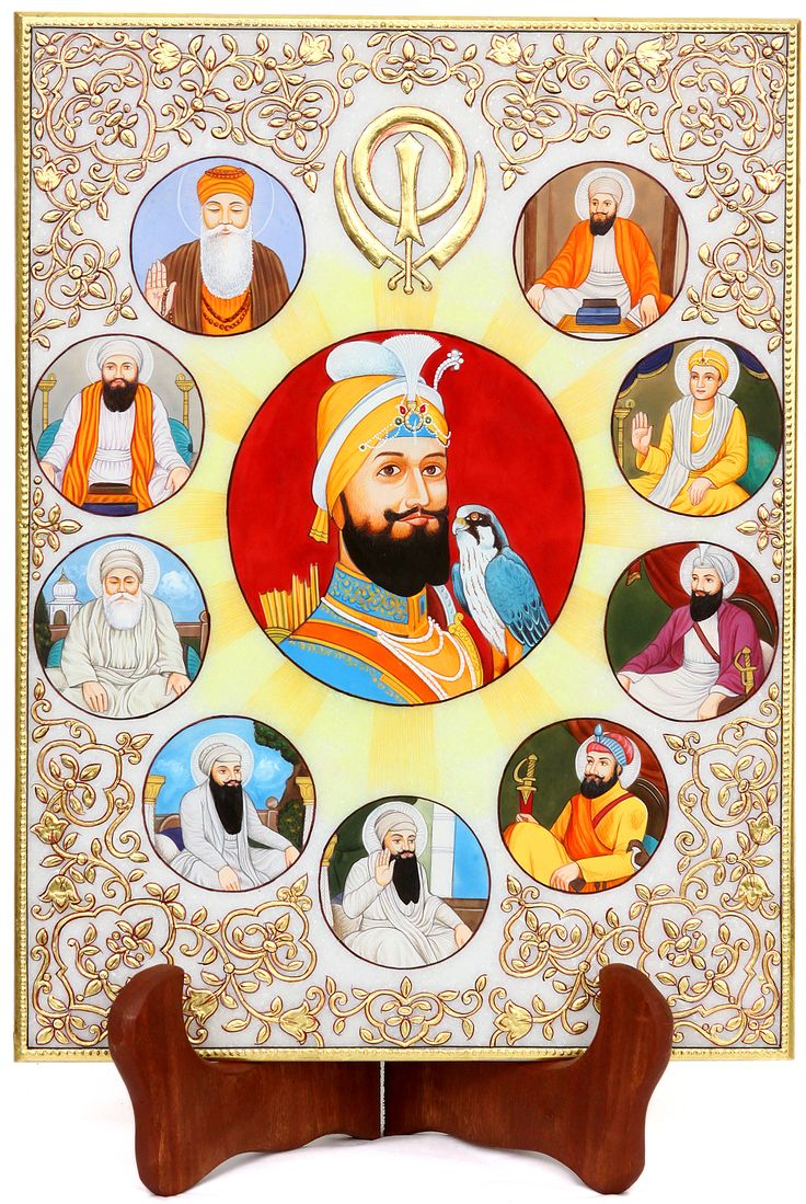 Ten Of Diamonds Playing Card With Clipping Path Stock: The Ten Sikh Gurus