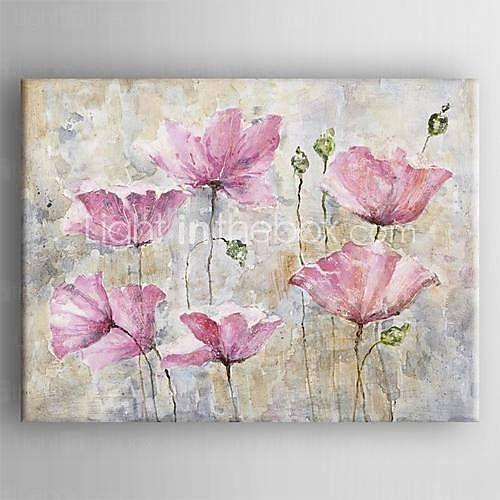 lona pintura al óleo pintada a mano con la flor moderna estirada enmarcada 2644424 2016 – €60.36