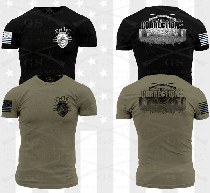 NEW! Specially designed for the Department of Corrections, these Grunt Style T-shirts are available in black and olive drab. Sales benefit the Police Unity Tour.