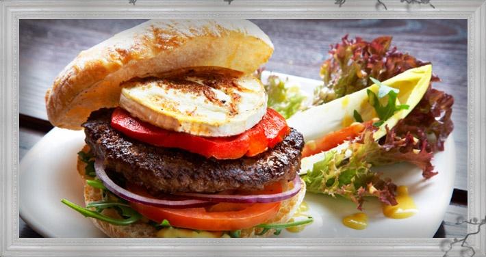 The yummy 'Spanish' Hache burger.