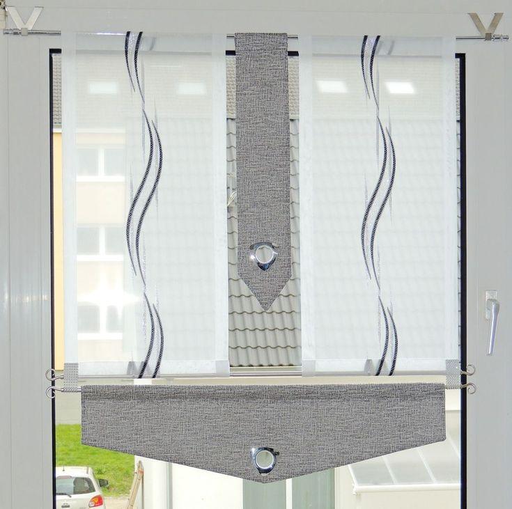 Scheibengardinen Set. aus 2 Vorhänge (je B-ca. Ohne V-Haken & Stange. V-Haken sind separat erhältlich! Dekostoff ist mit Vlieseline bearbeitet. 2 Deko Teile grau mit Ösen. waschen- Feinwäsche 30°. (das Fenster, auf dem Foto 90 cm. ). | eBay!