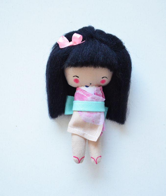 Małgorzata Kołaczyńska-Strzelecka, Zabawkarstwo,  http://polandhandmade.pl #polandhandmade, #japonka, #kieszonkowalalka, #doll