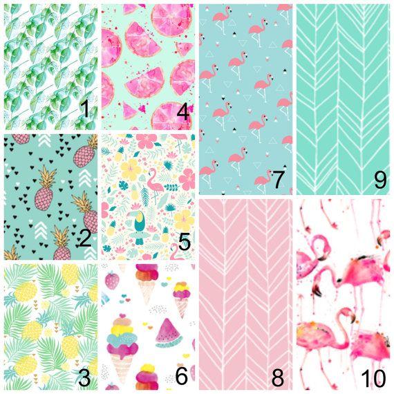 Baby Girl Nursery Sets -Tropic Flamingos - Crib Sheets, Girl Changing Pad Cover, Girl Boppy Covers, -Baby Girl BeddingSets, Mini Crib Sheets