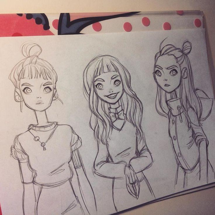 regram @anna_cattish  #sketching #girls                                                                                                                                                                                 Mais