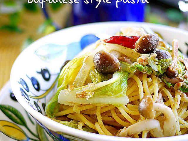 白菜とツナの胡麻和風パスタ♪の画像