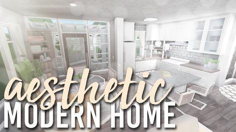 Aesthetic Modern Home 80k Bloxburg Build Alixia Youtube Modern House Modern Family House Tiny House Layout
