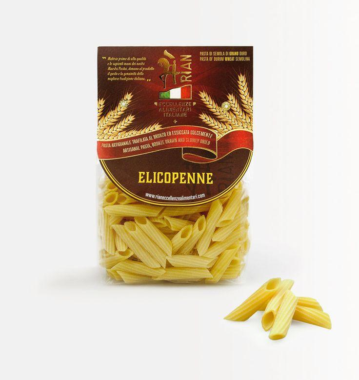 #elicopenne, #pasta di gragnano, ed il suo nuovo #packaging. Progetto per la nuova linea di prodotti @Rian eccellenze alimentari italiane, realizzato dallo #studio grafico @Lagartixa Design