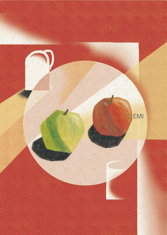 Apples on table | digital art | by EMI 2015 | #still life