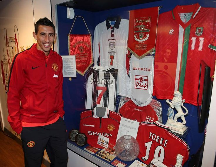 "Angel Di Maria paid a visit to the Manchester United Museum at Old Trafford to learn more about the legendary no.7 shirt he now wears and said: ""I hope one day to also be considered a hero for the fans, just like Best, Cantona, Beckham and Ronaldo."""